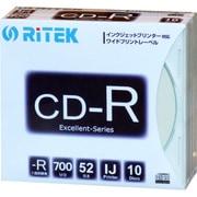 CD-R700EXWP.10RT SC N [データ用CD-R 700MB 1~52倍速 インクジェットプリンター対応 10枚]