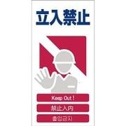 1146-1113-03 [GCE‐3 4ヶ国語入り安全標識 立入禁止]