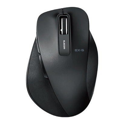 M-XGM10DBSBK [BlueLED 握りの極み M 静音 無線マウス 2.4GHz 5ボタン ブラック]