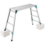 DRSW-1200 [脚部伸縮式アルミ足場台 天板幅広タイプ 101~124cm]