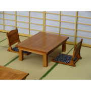 WZ-008 [1/12 檜の座卓と座椅子のセット]
