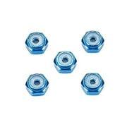 2mm アルミロックナット (ブルー5個) [グレードアップパーツシリーズ No.500]