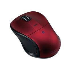 MUS-BKT111R [Bluetooth 静音3ボタンBlue LEDマウス レッド]