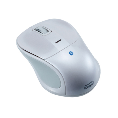 MUS-BKT111W [Bluetooth 静音3ボタンBlue LEDマウス ホワイト]