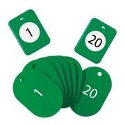 BF-150-GN [クロークチケット 1~20 緑]