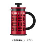 11198-294J [EILEEN フレンチプレスコーヒーメーカー 0.35L 12oz レッド]