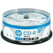 CDRA80CHPW25PA [音楽用CD-R 25P スピンドルケース インクジェットプリンター対応ホワイトワイドレーベル 1-32倍速]