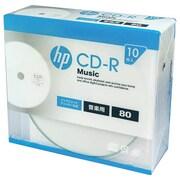 CDRA80CHPW10A [音楽用CD-R 10P スリムケース インクジェットプリンター対応ホワイトワイドレーベル 1-32倍速]