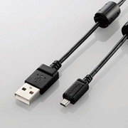 DGW-F8UF05BK [デジカメ用USBケーブル 平型8ピン フェライトコア 0.5m]