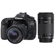 EOS 80D ダブルズームキット [デジタル一眼レフカメラ レンズキット ボディ+交換レンズ「EF-S18-55mm F3.5-5.6 IS STM」+「EF-S55-250mm F4-5.6 IS STM」]