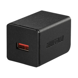 BSMPA2402P1BK [AC-USB USB急速充電器 AUTO POWER SELECT機能搭載 1ポートタイプ 2.4A ブラック]