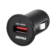 BSMPS2401P1BK [AC-USB シガーソケット用 USB急速充電器 AUTO POWER SELECT機能搭載 1ポートタイプ 2.4A ブラック]