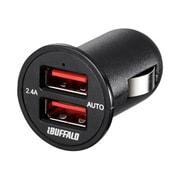 BSMPS2401P2BK [AC-USB シガーソケット用 USB急速充電器 AUTO POWER SELECT機能搭載 2ポートタイプ 2.4A ブラック]