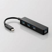 U3HC-A414BBK [USBハブ3.1 Gen1 Type-Cコネクタ Aメス4ポート バスパワー ブラック]