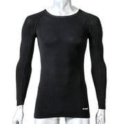 アスリートコンプレッションPRO トップス 10分袖 Lサイズ ブラック