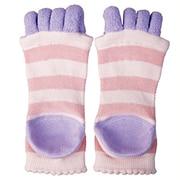 眠れる森の5本指かかとソックス ピンク