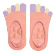 眠れる森の5本指足裏プッシュソックス ピンク