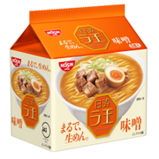 日清 ラ王 味噌 5食パック 510g [即席袋麺]