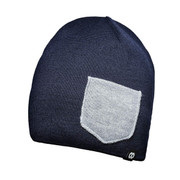 Beanie WINTER Navy/Heather gray [レンズキャップポケット付き ビーニー帽 冬用 ネイビー/ヘザーグレイ]
