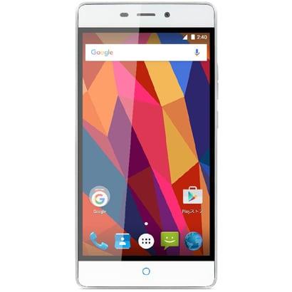 BLADEV580/SILVER [ZTE Blade V580 Android 5.1搭載 5.5インチ液晶 SIMフリースマートフォン シルバー]