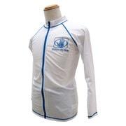 男児ラッシュガードジップ仕様長袖 150サイズ OOホワイト