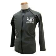 男児ラッシュガードジップ仕様長袖 150サイズ 30グレー