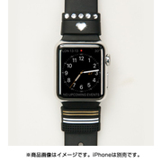 Apple Watch 38/42mm対応 リストバンド Allure Loops created with Swarovski Crystals ブラック