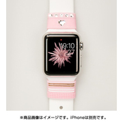 Apple Watch 38/42mm対応 リストバンド Allure Loops created with Swarovski Crystals ピンク