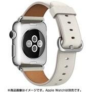 Apple Watch 38mmケース用 ホワイト クラシックバックル