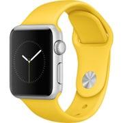 Apple Watch Sport 38mm シルバーアルミニウムケースとイエロースポーツバンド
