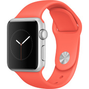Apple Watch Sport 38mm シルバーアルミニウムケースとアプリコットスポーツバンド