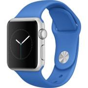 Apple Watch Sport 38mm シルバーアルミニウムケースとロイヤルブルースポーツバンド