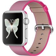 Apple Watch Sport 38mm シルバーアルミニウムケースとピンクウーブンナイロン