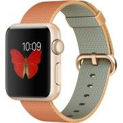 Apple Watch Sport 38mm ゴールドアルミニウムケースとゴールド/レッドウーブンナイロン
