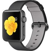 Apple Watch Sport 38mm スペースグレイアルミニウムケースとブラックウーブンナイロン