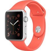Apple Watch Sport 42mm シルバーアルミニウムケースとアプリコットスポーツバンド