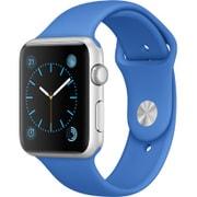 Apple Watch Sport 42mm シルバーアルミニウムケースとロイヤルブルースポーツバンド