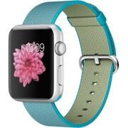 Apple Watch Sport 42mm シルバーアルミニウムケースとスキューバブルーウーブンナイロン