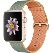Apple Watch Sport 42mm ゴールドアルミニウムケースとゴールド/ロイヤルブルーウーブンナイロン