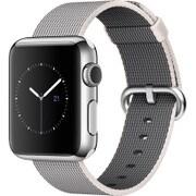 Apple Watch 38mm ステンレススチールケースとパールウーブンナイロン