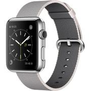 Apple Watch 42mm ステンレススチールケースとパールウーブンナイロン