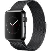 Apple Watch 42mm スペースブラックステンレススチールケースとスペースブラックミラネーゼループ