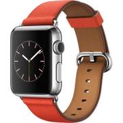 Apple Watch 38mm ステンレススチールケースとレッドクラシックバックル