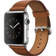 Apple Watch 42mm ステンレススチールケースとサドルブラウンクラシックバックル