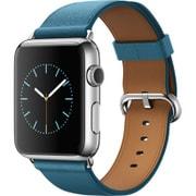 Apple Watch 42mm ステンレススチールケースとマリンブルークラシックバックル