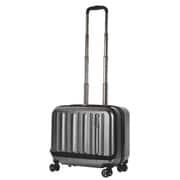 85-76211 [スーツケース(容量33L) フラッシュ 横型 ヘアラインブラック]