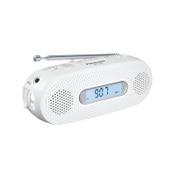 RF-TJ20-W [手回し充電ラジオ FM-AM 2バンドレシーバ ワイドFM対応 ホワイト]