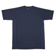 RAKUシャツ SPORTS (吸汗速乾) 半袖 [ユニセックス Lサイズ ネイビー]