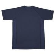 RAKUシャツ SPORTS (吸汗速乾) 半袖 [ユニセックス 3Lサイズ ネイビー]