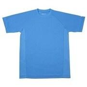 RAKUシャツ SPORTS (吸汗速乾) 半袖 [ユニセックス Lサイズ ブルー]